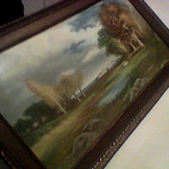 ANTIQUE PASTEL LANDSCAPE