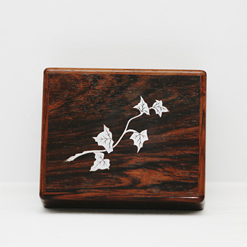 Palisander Cigar Box with Silver Inlay (Denmark), 1950's - Tobacciana