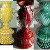 Antonin Rückl & Sons Bohemian Vases in Various Cottage Glass Decors