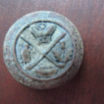 Found Metal Detecting old Indian site, ? Hockey, Golf Button - Hockey