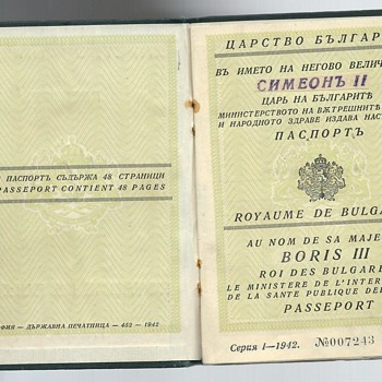 post-war delegation passport - Paper