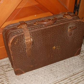 Vintage Leather Trunk With Straps - Bags