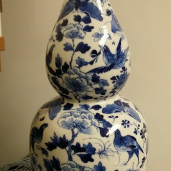 Double gourd vase. Chinese. - Art Pottery