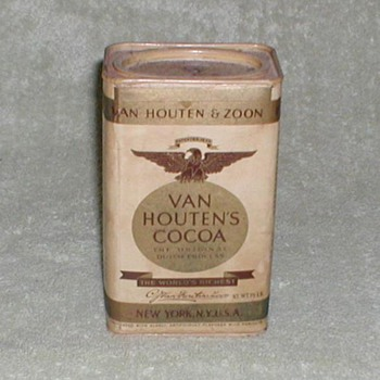 Van Houten &amp; Zoon Cocoa Tin - Advertising