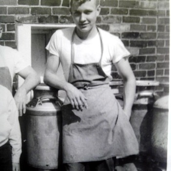 Dad at my grandparents cheese factory - Photographs