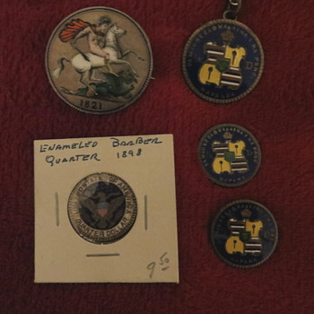 Enameled coins