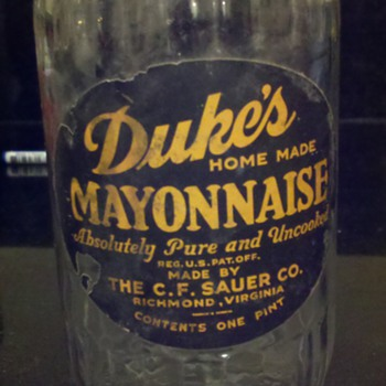 Duke's Mayo Jar - Advertising
