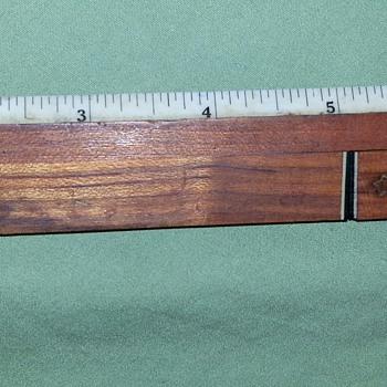 Vintage 8 inch Ruler With Concealed Letter Opener