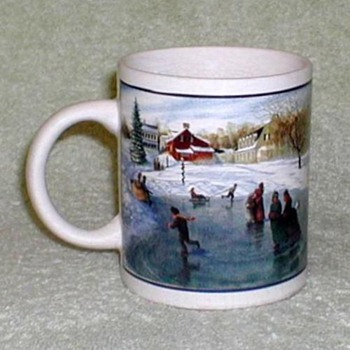 "Coffee Mug - ""Ice Skating on Pond"" - Kitchen"