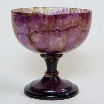 Genuine Amethyst Stone Goblet~Appears to be very Old, Any Information Welcome