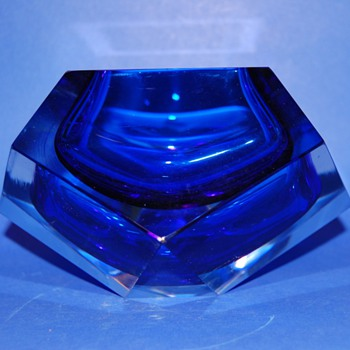 Blue Cobalt Murano ashtray
