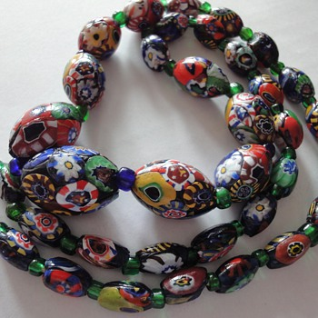 Vintage Millefiore Beads necklace