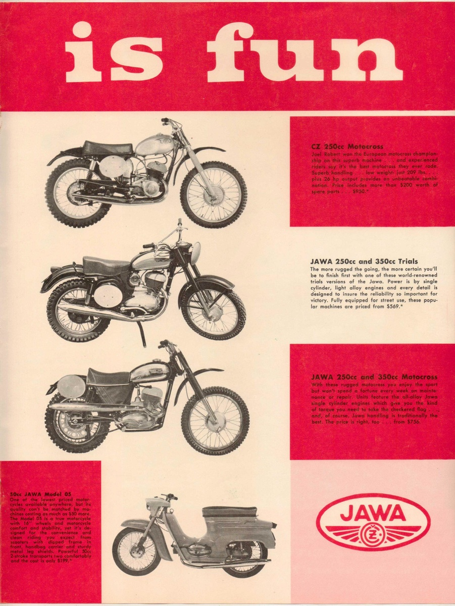 1965 - JAWA Motorcycles Advertisement Pamphlet | Collectors Weekly
