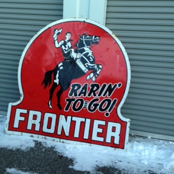 Lucky Frontier Sign - Petroliana