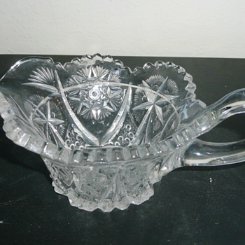 Vintage glass creamer - Glassware