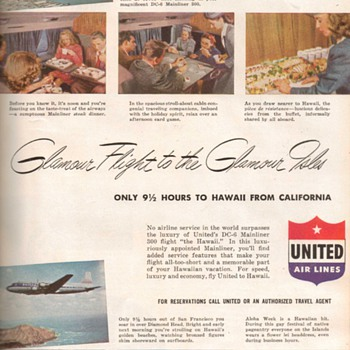 1948 - United Airlines Advertisement - Advertising
