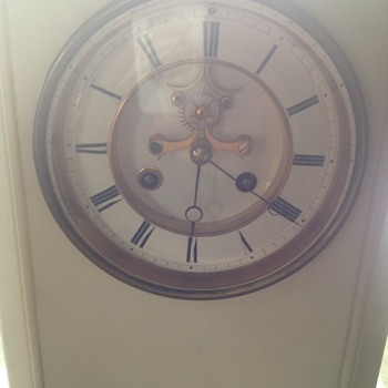 White marble mantel Clock - Clocks