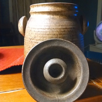 interesting brown jug with markings i have yet to identify