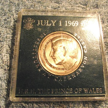 1969-prince charles investiture-july 1969-wales-england-coins. - World Coins