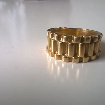 Rolex Design 18K Gold Ring, 10+ Grams - Flea Market Find~! It's My Size~! 50 CENTS - Gold