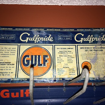 1930's Gulfpride oil can. - Petroliana