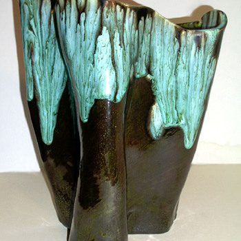Oil Slick Drip Glaze Studio Pottery Vase - Bill Ferg?  - Art Pottery