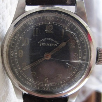 Helvetia Men's Watch WWII General Watch Co. Reliable Stores Corp.