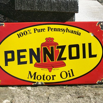 Pennzoil porcelain metal sign 1950 - value