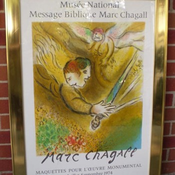 Marc Chagall 1974 Angel of Judgement Lithograph poster - Posters and Prints