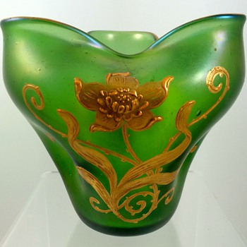 Loetz Creta Glatt, Prod. Nr. 3/258, ca. 1903 for A. Rupp, Meistersdorf - and a clue for researchers! - Art Glass