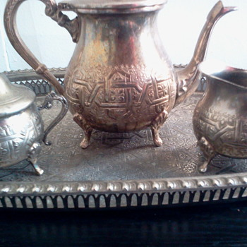 Unknown marks on Silver Plate(?) Tea Service - Sterling Silver