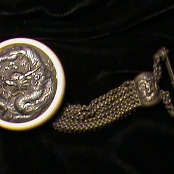 Mammoth Ivory and Silver Dragon Kagamibuta~ - Asian