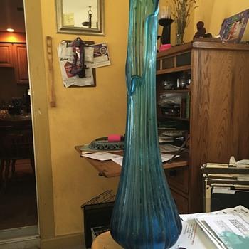 Pretty aqua blue vase!