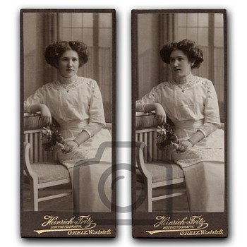 Old photographs collection: Studio portraits with Art Nouveau furniture II - Photographs