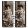 Old photographs collection: Studio portraits with Art Nouveau furniture II