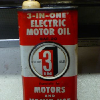 3 in 1 electric motor oil can  - Petroliana
