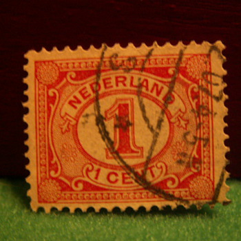 Vintage Nederlands 1 Cent Stamp ~ Used - Stamps