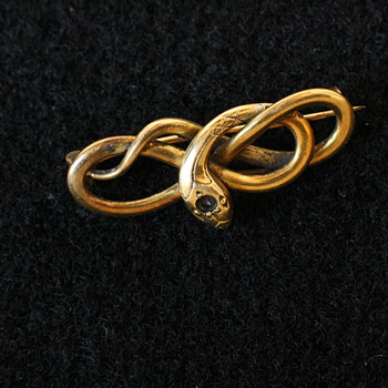Victorian snake brooch from the FIX company, France