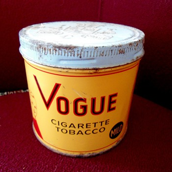 Vogue Cigarette Tin - Advertising