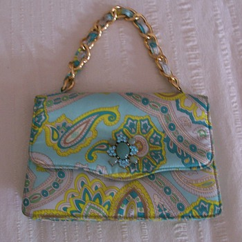 Paisley purse with a little bling