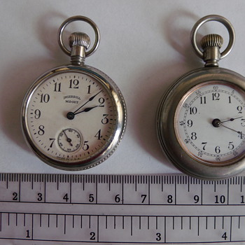 "Ingersoll Midget and Mystery Pocket Watch- Mystery Solved Waterbury ""L"" - Pocket Watches"