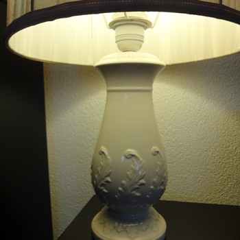 Antique Wedgewood Lamp - Art Pottery