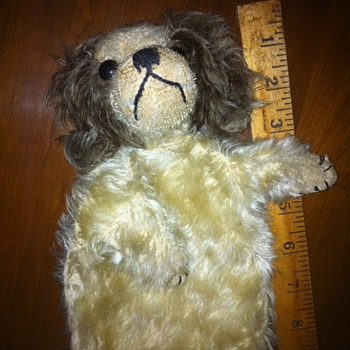 Teddy Bear and Dog Puppet...can anyone tell me more about them?