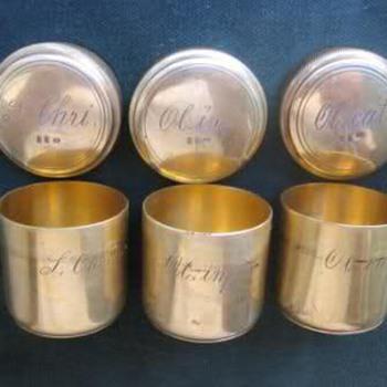 Chrismatory sacred vessels - Sterling Silver