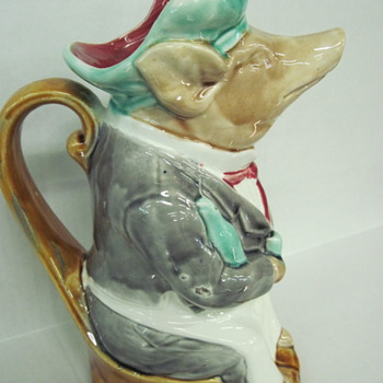 French Majolica Pig Waiter - Art Pottery