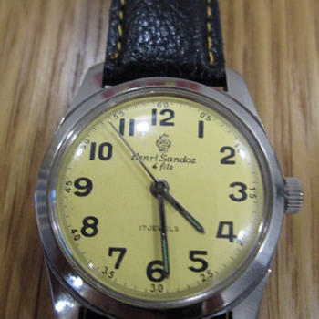 Vintage Henri Sandoz winding watch - Wristwatches