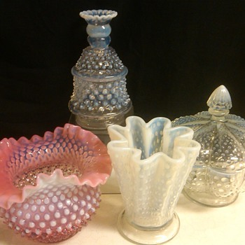 More Pieces From my Fenton Hobnail Collection - Glassware