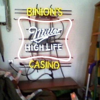 Binion's Casino Miller Life Neon Sign - Signs