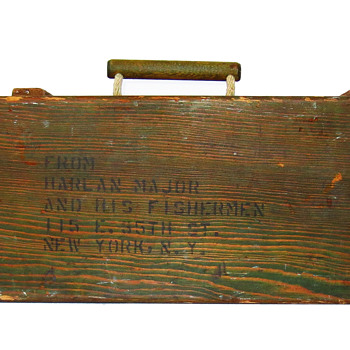 &quot;Harlan Major And His Fishermen&quot; WWII Tackle Box - Fishing