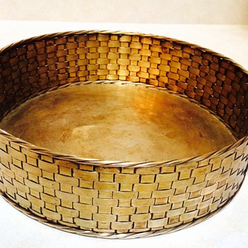 Janetti Roma 800 Silver Basket Weave Tray